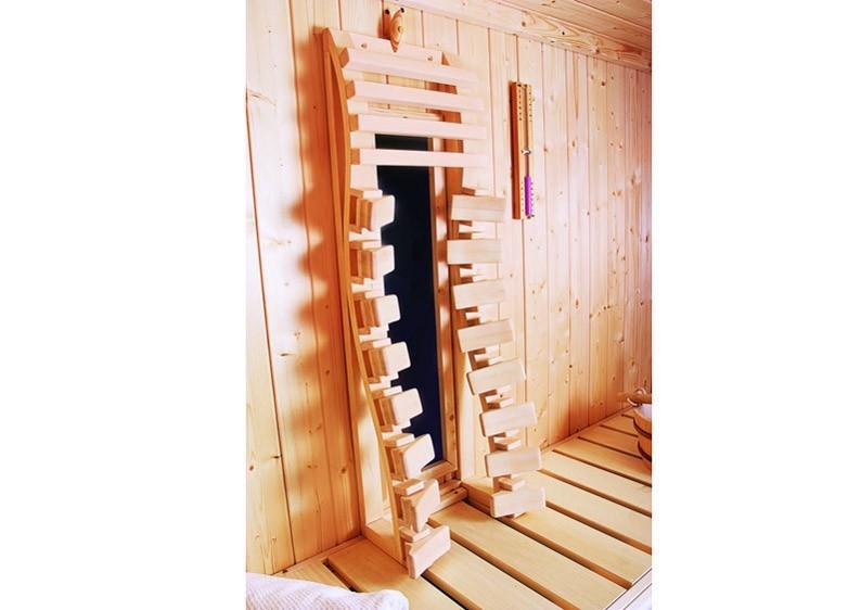 Karibu Ergo-Infra PRO Rückenlehne - Rückenstrahler ergonomisch anpassende Rückenlehne mit VITAMY Strahler Set B - Set 2