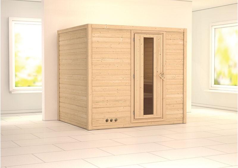 Karibu Massiv Sauna Sonara Energiespartür (Fronteinstieg) 40 mm ohne Zubehör