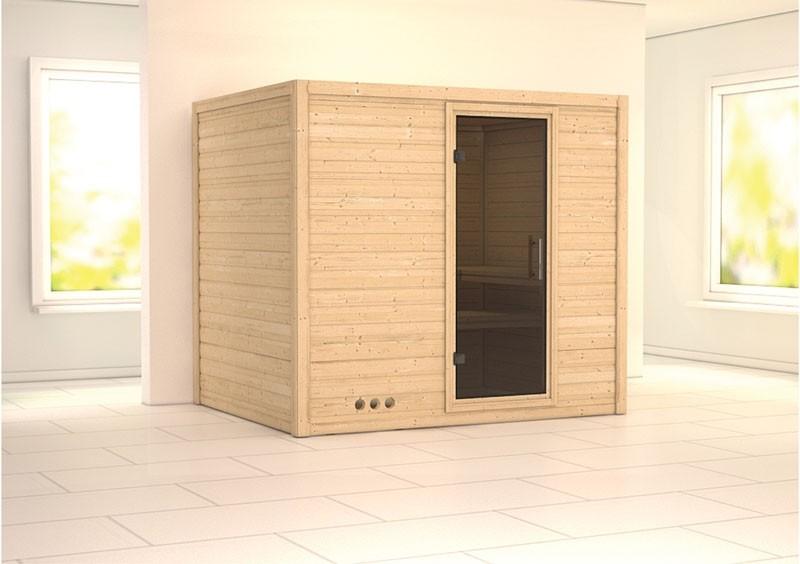 Karibu Massiv Sauna Sonara easy (Fronteinstieg) 40 mm ohne Zubehör