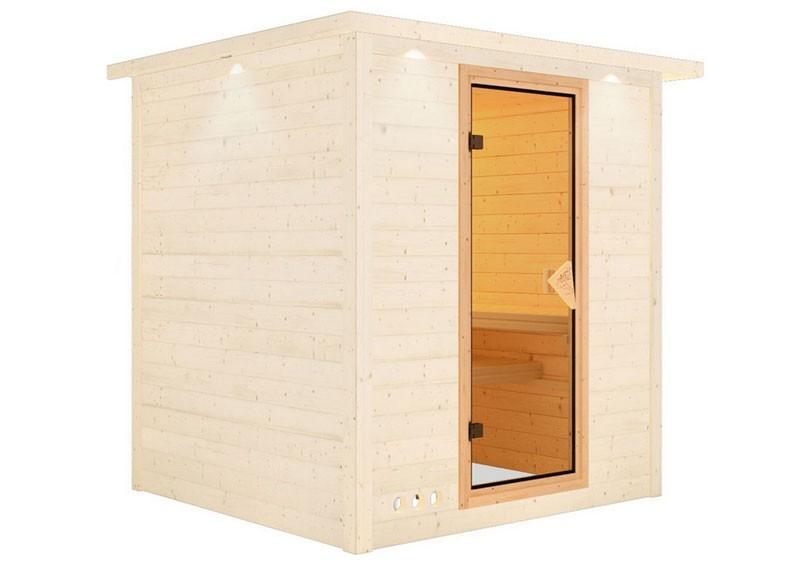 Karibu Sauna Türelement Classic für Sauna Wandstärke 38 und 40 mm