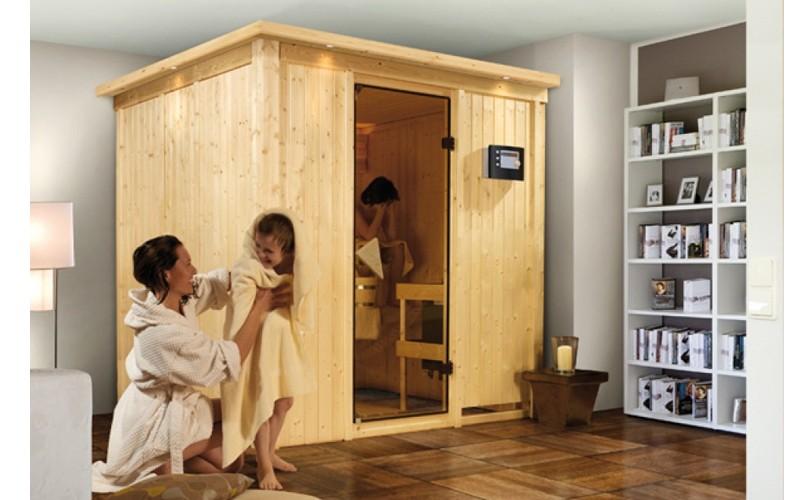 Karibu System Sauna Sodin easy (Fronteinstieg) 68 mm Ofen 9 KW externe Strg easy