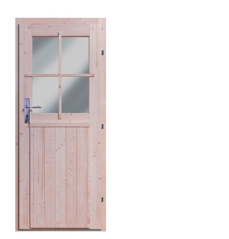 Einflügeltür 28mm - naturbelassen