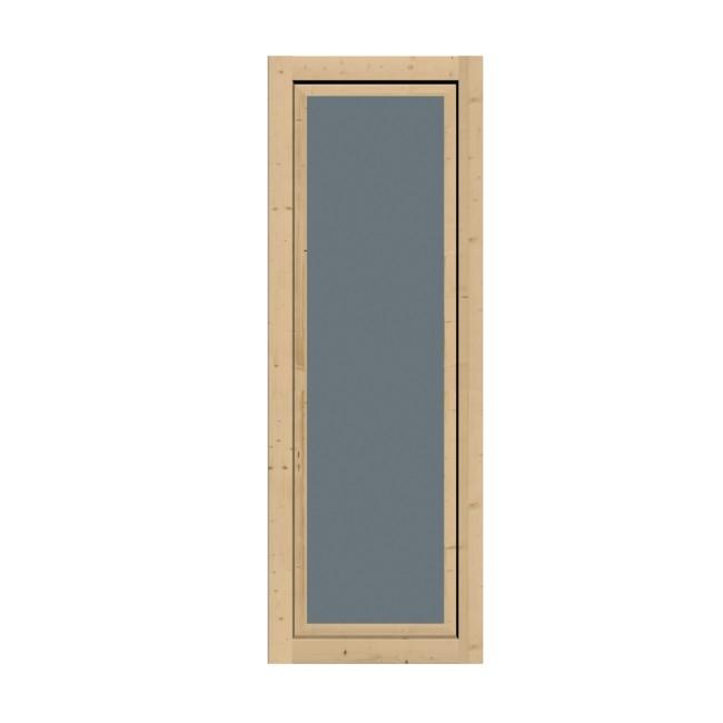 Karibu Holz-Gartenhausfenster Dreh-/Kipptechnik länglich für 28 mm Wandstärke - natur