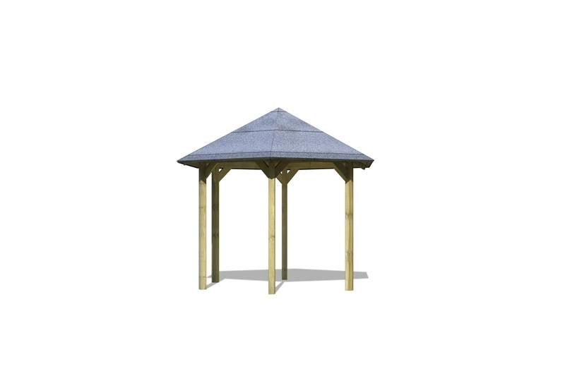 Karibu Holzpavillon Madrid 6-Eck-Pavillon Eco - kdi