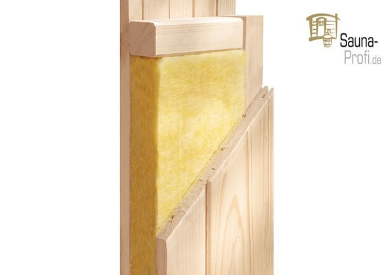 Karibu Systembau Sauna Reipa Classic (Fronteinstieg) 68 mm inkl. Bio-Ofen + ext. Strg. und Zubehör