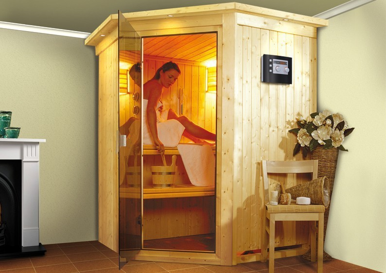 Karibu System Sauna Larin Classic (Eckeinstieg) 68 mm