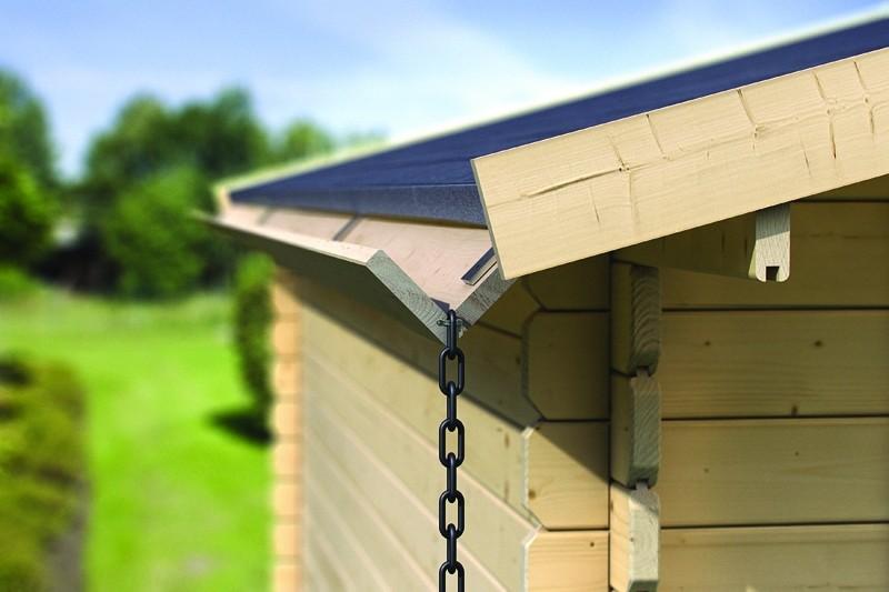 Karibu Dachrinne Set 1  für Flachdachhäuser - Kdi Holz