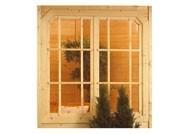 Karibu Fenster Dreh-/Doppelfenster für Pavillon Rom 2 127 x 127 cm - natur / Echtglas