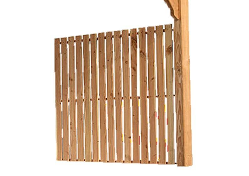 Karibu Seitenwandelement für Terrassenüberdachung PREMIUM Modell 2 - Douglasie