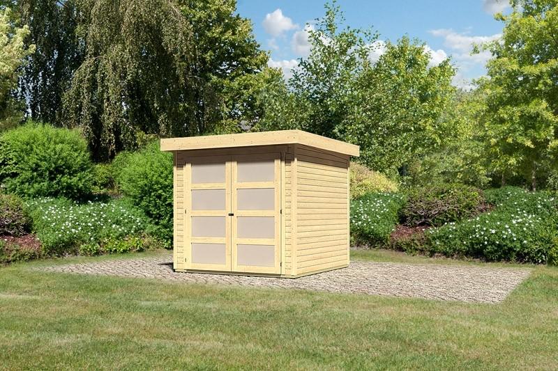 Karibu Holz-Gartenhaus  19mm Mühlendorf 2 naturbelassen