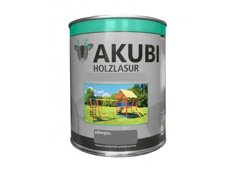 Holz-Lasur Silbergrau Farbe Set 750 ml