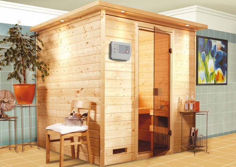 Woodfeeling 38 mm Massiv Sauna Nora Classic (Fronteinstieg)