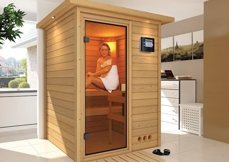 Woodfeeling 38 mm Massiv Sauna Svenja Classic (Fronteinstieg)