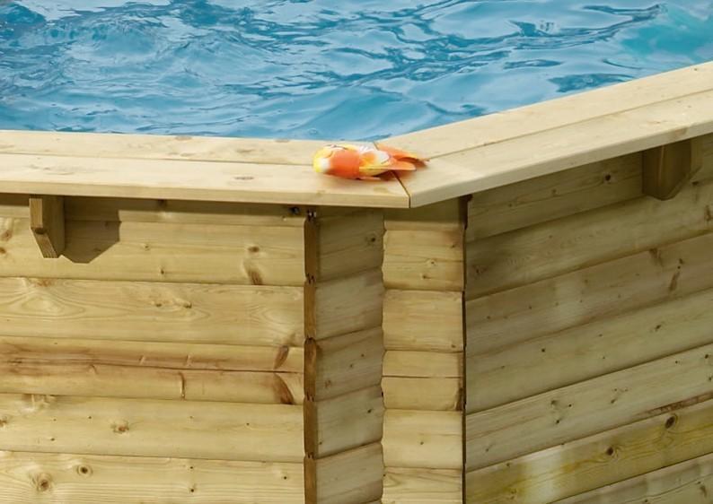 Karibu Holzpool Swimmingpool Achteck Modell A2  470 x 470 cm - kdi - ohne Sonnenterrasse