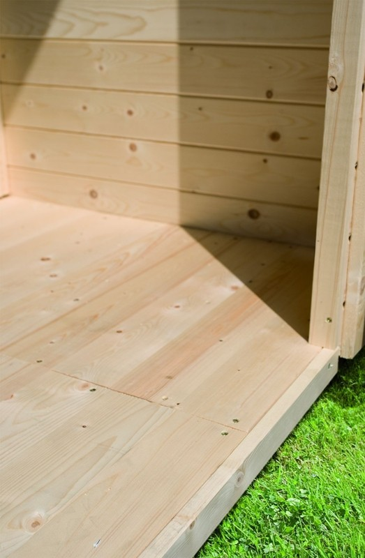 Woodfeeling Karibu Fußboden naturbelassen für Sockelmaß 3,70 x 3,70 m
