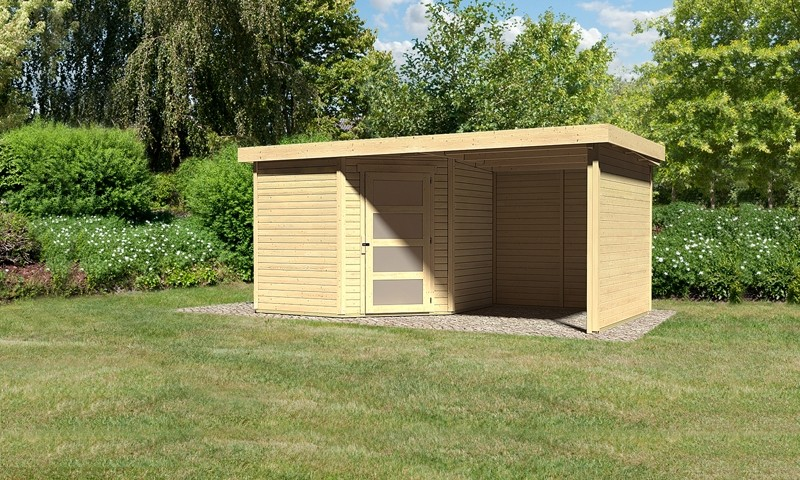 Karibu Woodfeeling Holz Gartenhaus Schwandorf 5 Im Set Mit
