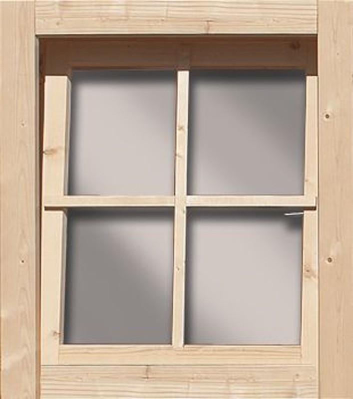Woodfeeling 38 mm gerades Fenster ( 28mm inkl Umrüstleistens als Set) - naturbelassen