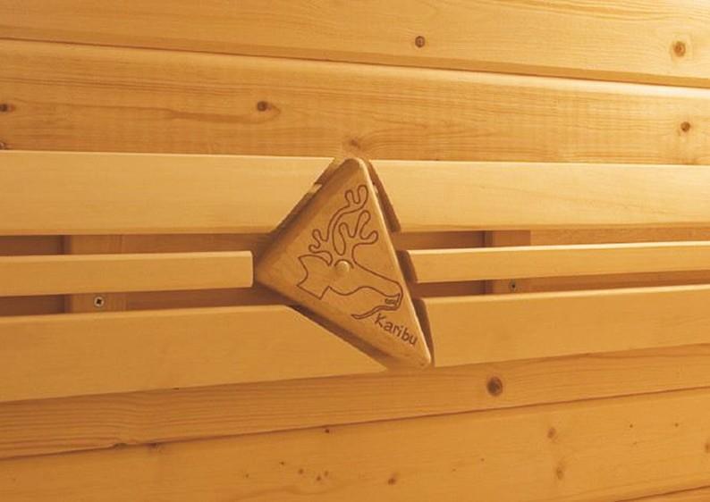 Karibu Premium Sauna Bankblende Größe 1 und Rückenlehne
