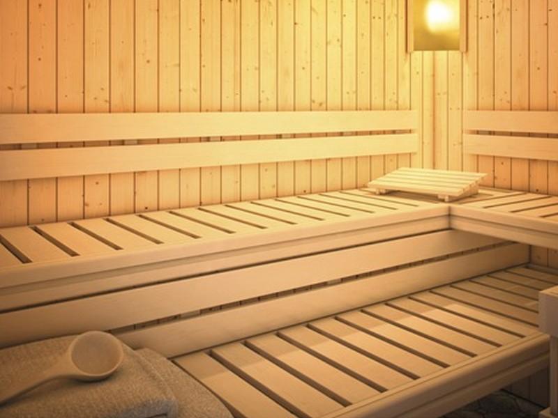 Karibu Premium Sauna Bankblende Größe 3 und Rückenlehne