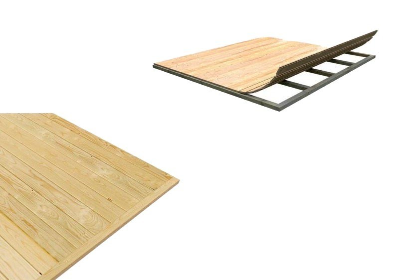 Karibu Fussboden für Anbaukombination 19mm (Sockelmass 2,65x0,65m) - natur