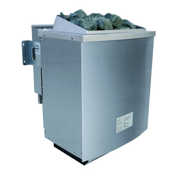 Karibu Systemsaunahaus 38 mm Saunahaus Skrollan 1  Ofen 9 kW Bio externe Strg easy  Gartensauna