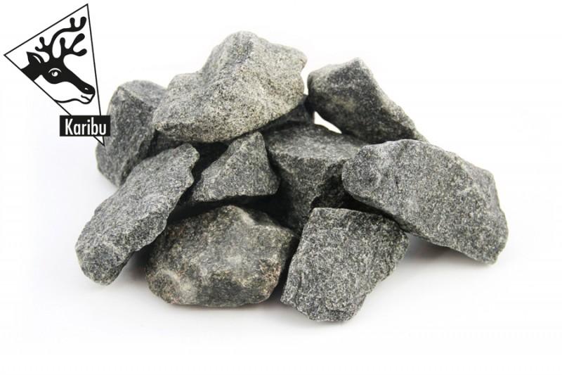 Karibu 38 mm Saunahaus Gartensauna Bordeaux  2 Ofen inkl Steuergerät easy Bio und 18 KG Steinen terragrau