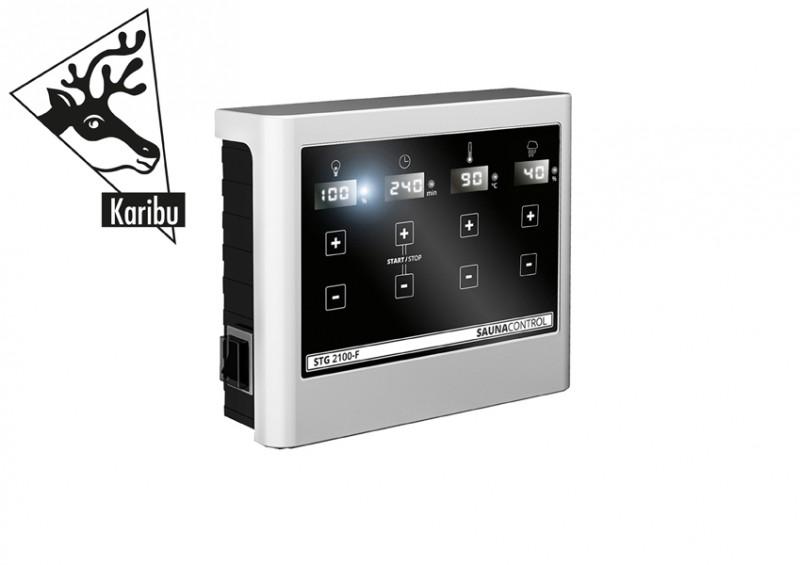 Karibu 42 mm Fasssauna Gartensauna Renne 2 Ofen inkl Steuergerät easy Bio und 18 KG Steinen
