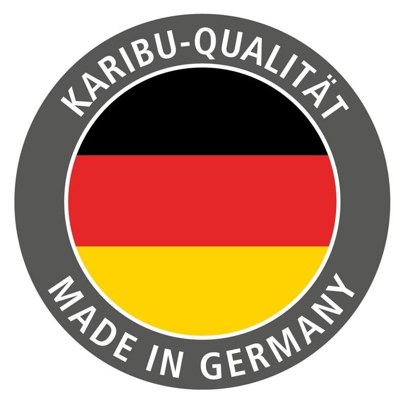 Karibu Systemsaunahaus 38 mm Saunahaus Kroge Ofen 9 kW integr. Strg   Gartensauna