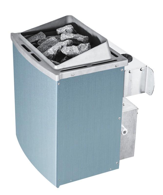Karibu Systemsaunahaus 38 mm Saunahaus Mikka  mit Eckeinstieg Ofen 9 kW integr. Strg   Gartensauna