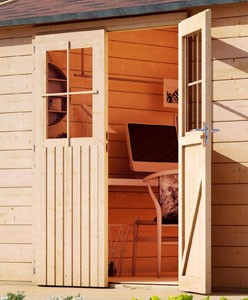 Karibu Holz Gartenhaus Kerpen 1 Farbe: naturbelassen