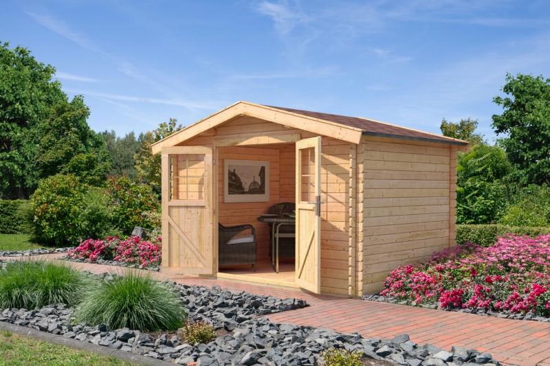 Karibu Holz Gartenhaus Buxtehude 3 Farbe: naturbelassen
