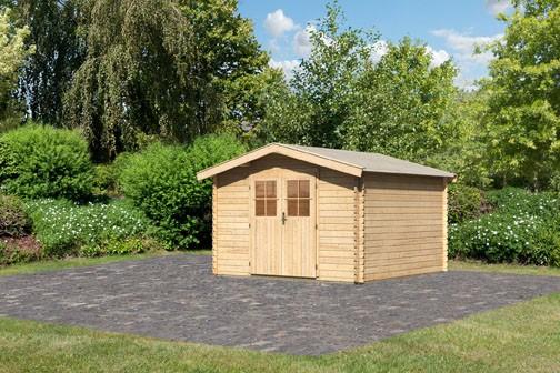 Karibu Holz Gartenhaus Buxtehude 4 Farbe: naturbelassen