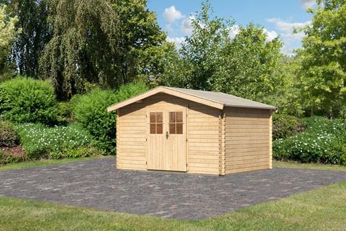 Karibu Holz Gartenhaus Buxtehude 5 Farbe: naturbelassen