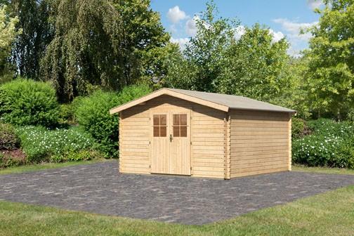Karibu Holz Gartenhaus Buxtehude 6 Farbe: naturbelassen