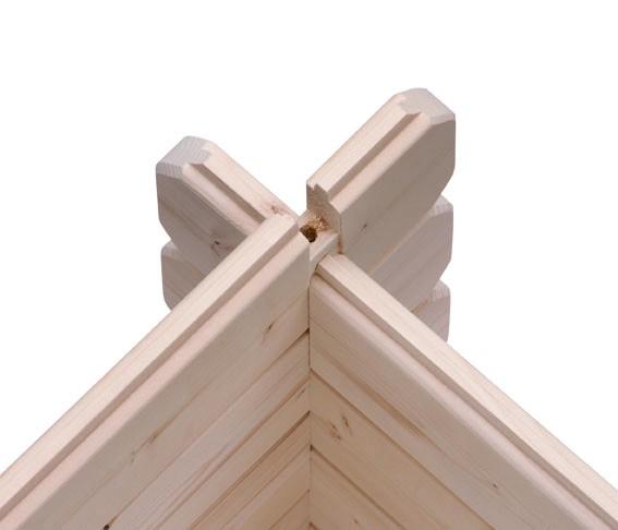 Karibu Holz Gartenhaus Buxtehude 4 inkl. Vordach und Terrasse Farbe: naturbelassen