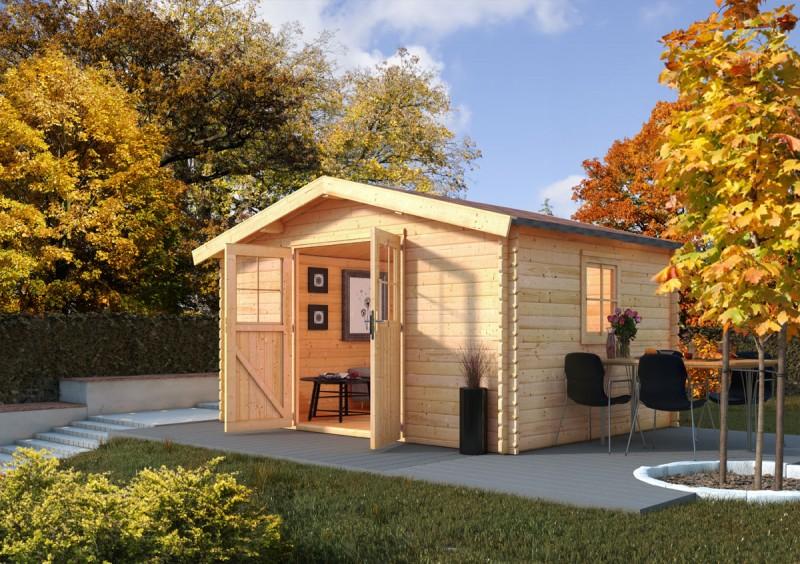 Karibu Holz Gartenhaus  Mühlheim 5 Farbe: naturbelassen