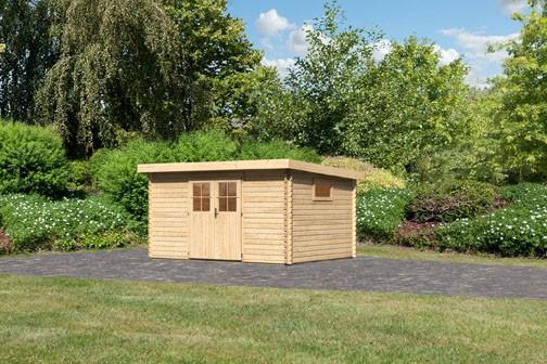 Karibu Holz Gartenhaus  Torgau 5 Farbe: naturbelassen