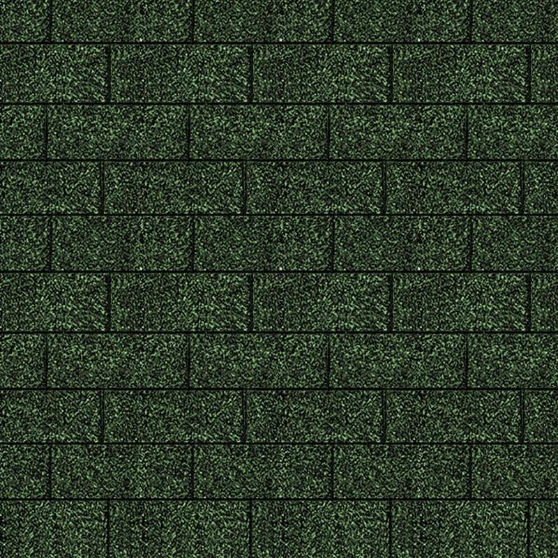 Karibu Dachschindeln Rechteck - Dunkelgrün