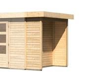 Karibu Holz Mülltonnenschleppdach für eine Haustiefe von 2,17 m Farbe: naturbelassen