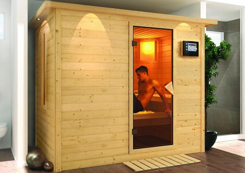 Karibu Massiv Sauna Sonara Classic (Fronteinstieg) 40 mm ohne Zubehör