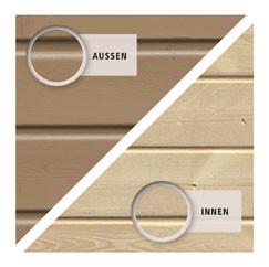 Karibu Holz-Gartenhaus  19mm Qubic 2 sandbeige inkl. Alu-Dachbahnrollen