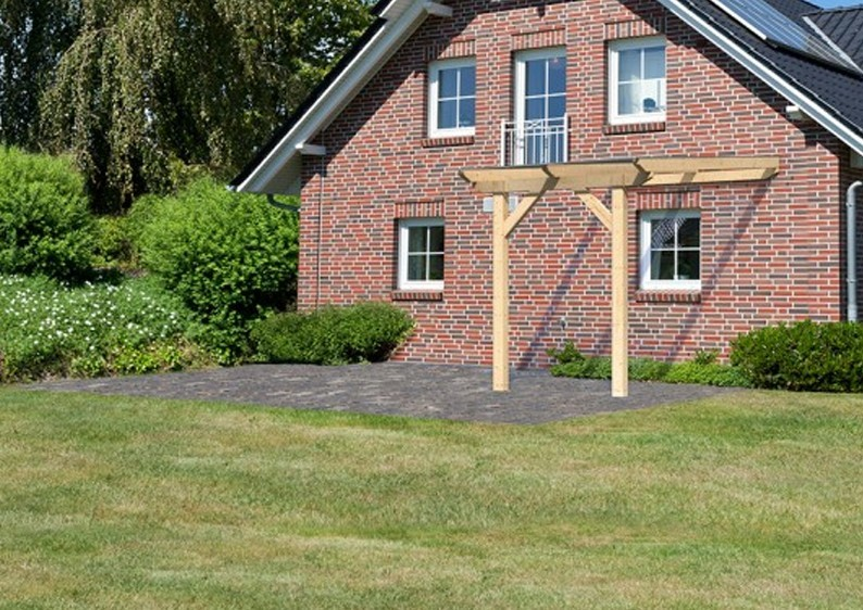 Karibu Holz Terrassenüberdachung Modell 3 Classic - Grösse A (350 x 200) cm - Leimholz natur