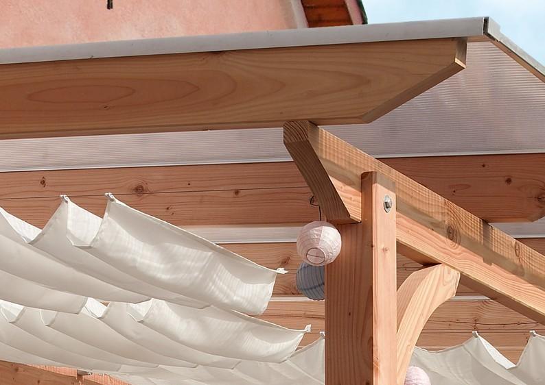 Karibu Holz Terrassenüberdachung Modell 2 Premium - Grösse A (300 x 310 cm) - Douglasie gerade