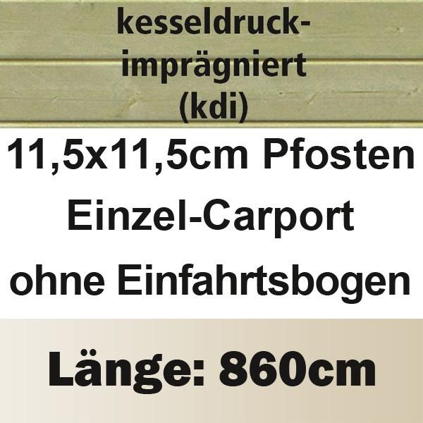 Karibu Holz Einzelcarport Classic 3 Variante A - PVC Dach