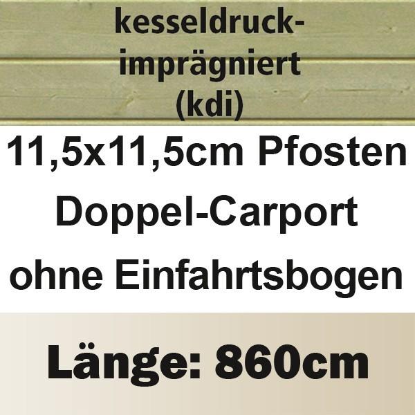 Karibu Holz Doppelcarport Classic 3 Variante A - Stahl Dach