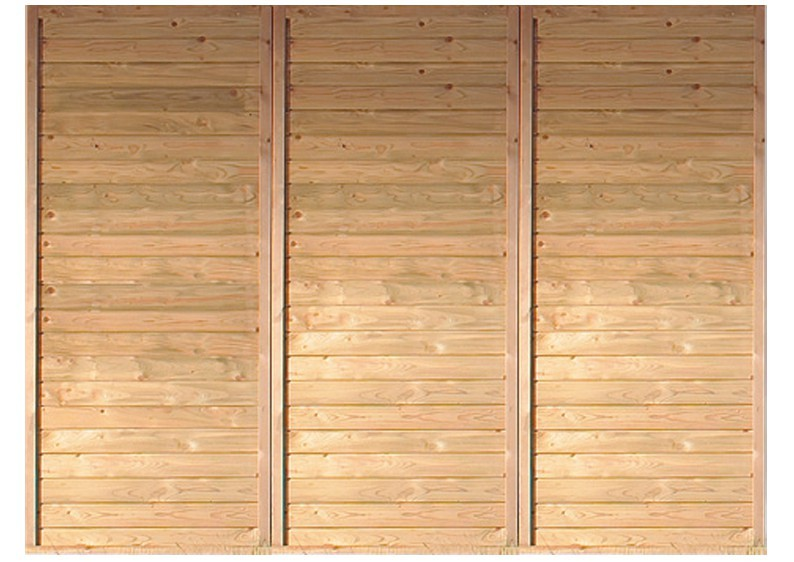Karibu Geräteraum 2 mit Einflügeltür - für Einzel-Carports