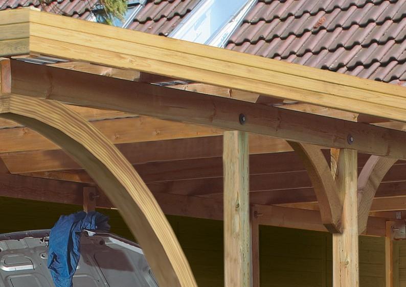 Karibu Holz Doppelcarport Premium 2 Variante A - PVC Dach