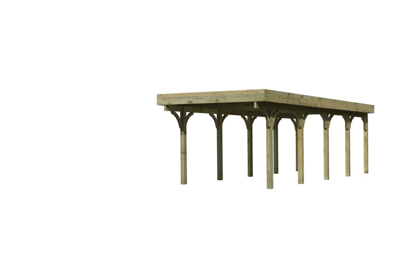 Karibu Holz Einzelcarport Premium 3 Variante A - Stahl Dach