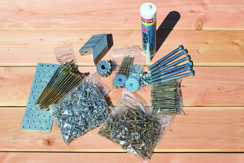 Karibu Beschlagbeutel Holz Einzelcarport Eco 2