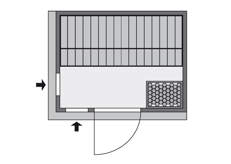 Karibu System Sauna Bodin Classic (Fronteinstieg) 68 mm inkl. Ofen 9 kW mit integr. Steuerung